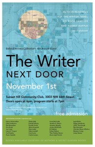 Ballard Writers Collective BIG EVENT on Fri, Nov 1